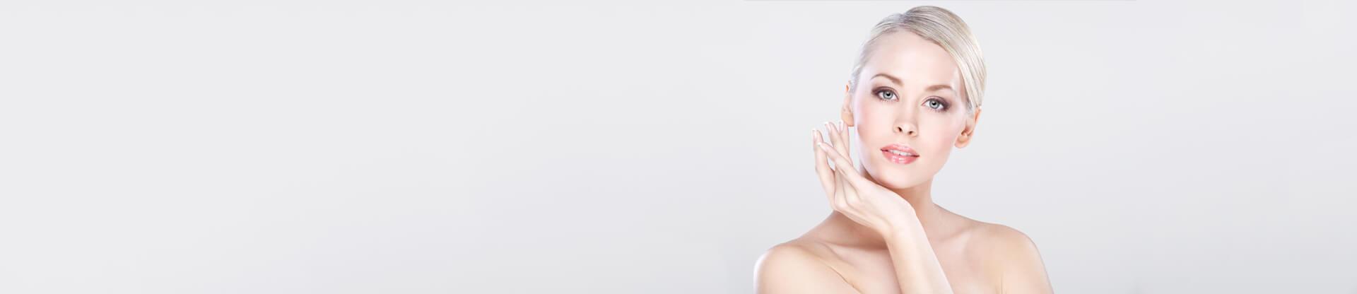 Young beautiful caucasian woman with natural makeup posing