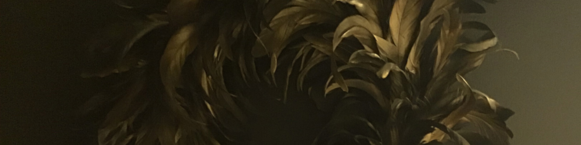 Cropped image of gold wreath